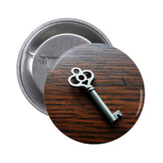 Llave adornada en la caja de madera pin redondo de 2 pulgadas