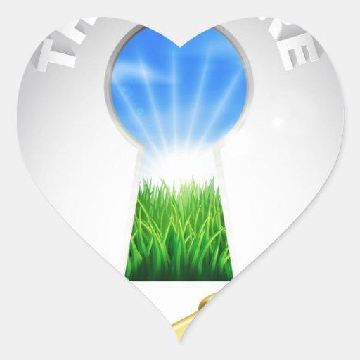 Llave al concepto de la fama colcomanias de corazon personalizadas