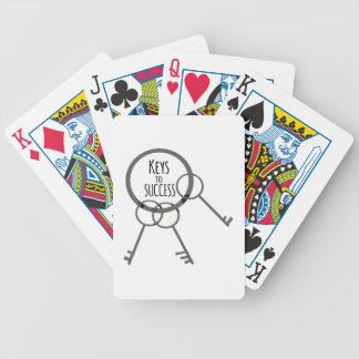 Llave al éxito baraja de cartas bicycle
