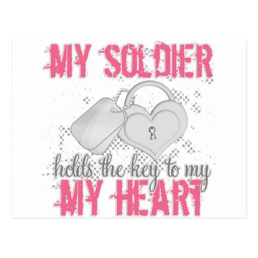 Llave al soldado del corazón postales