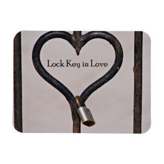 Llave de cerradura en imán del amor