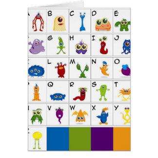 Llave de código - monstruos tarjeta de felicitación