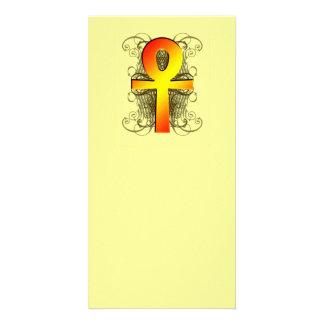 """""""Llave de la vida (Ankh)"""" en señales del oro Tarjetas Fotograficas Personalizadas"""