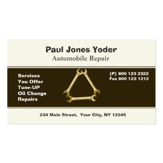 Llave de las herramientas de los hombres de la tarjetas de visita