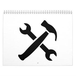 Llave de tornillo del martillo calendarios