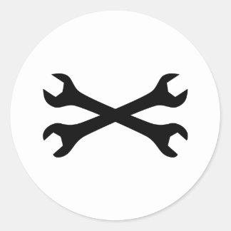 Llave de tornillo negra cruzada etiquetas