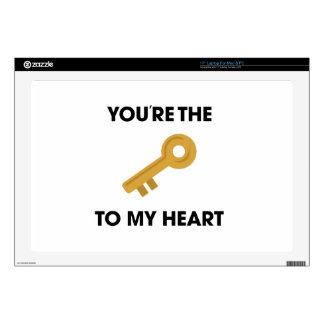 Llave de YoureThe a mi corazón 43,2cm Portátil Calcomanía