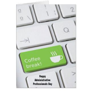 Llave del descanso para tomar café de la diversión tarjeta pequeña