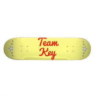 Llave del equipo patines personalizados