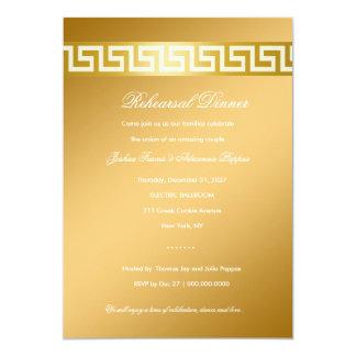 """llave del Griego 311-Golden Invitación 5"""" X 7"""""""