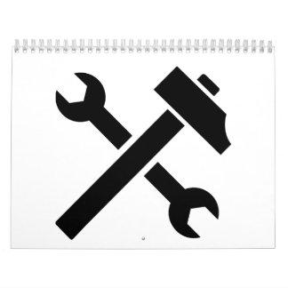 Llave del martillo calendario