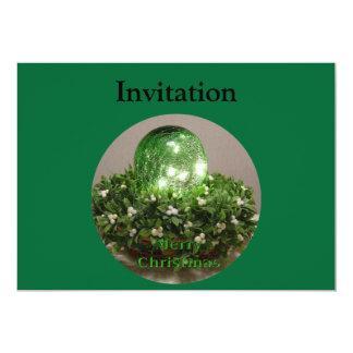 Llave del navidad invitación 12,7 x 17,8 cm
