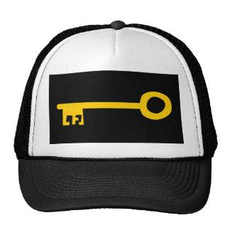 Llave del oro en negro gorras de camionero