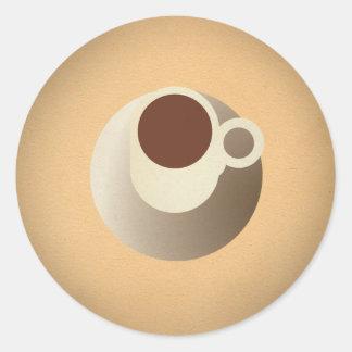 Llave del poder de FLomm: ¡CAFÉ EXPRESS! Pegatina Redonda