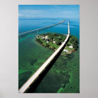 Llave del puente y de la paloma de siete millas, póster
