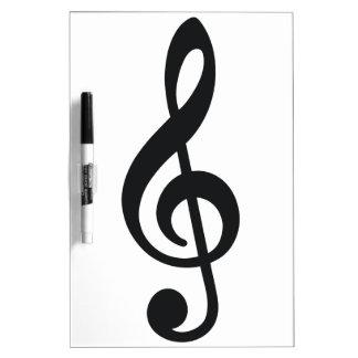 llave del triple de la nota de la nota musical pizarras blancas