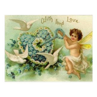 Llave del vintage a mi postal del corazón