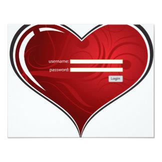 llave (digital) a mi corazón invitación 10,8 x 13,9 cm