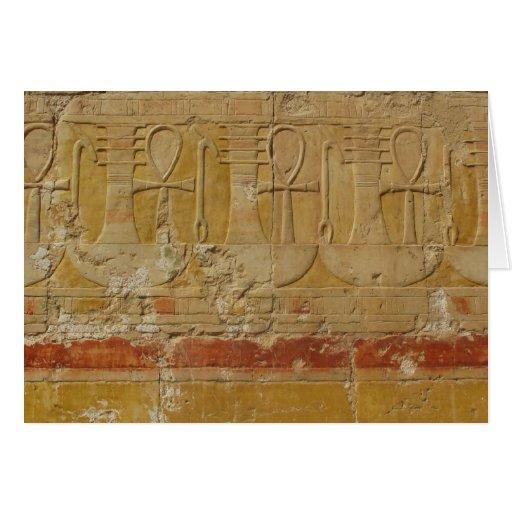 Llave egipcia antigua de la vida Ankh Tarjeta De Felicitación