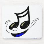 Llave feliz Mousepad de la música Alfombrillas De Ratón