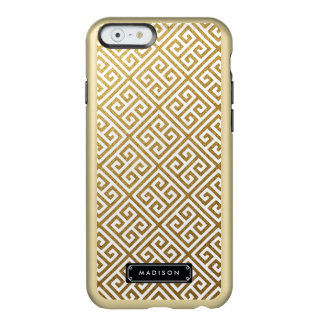 Llave griega del oro con clase personalizada funda para iPhone 6 plus incipio feather shine