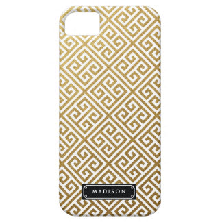 Llave griega del oro con clase personalizada funda para iPhone SE/5/5s