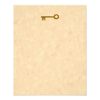 Llave. Llave de Brown en efecto del pergamino Tarjeta Publicitaria