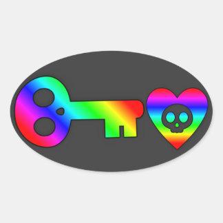 Llave maestra del arco iris a mi pegatina del cora