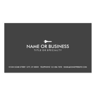 llave simple tarjetas de negocios