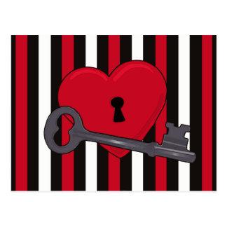 """Llave tarjeta del día de San Valentín de la posta Tarjeta Postal"