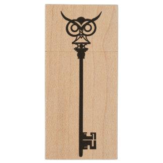 Llave tribal negra del búho pen drive de madera USB 2.0