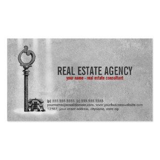 Llave y casa - tarjeta de visita de las propiedade