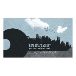 Llave y edificios de la ciudad - tarjeta de visita