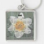 llavero 2014 del calendario de la flor del narciso