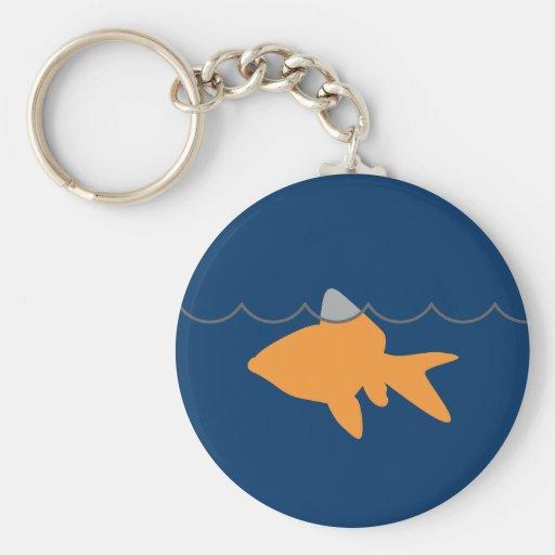 Llavero 2 del tiburón del Goldfish