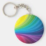 Llavero abstracto del remolino del arco iris