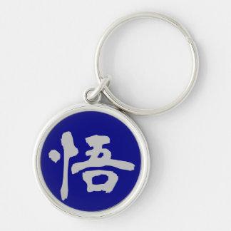 Llavero: Aclaración (Satori) - azul Llavero Redondo Plateado