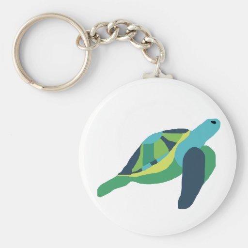 Llavero acolchado de la tortuga de mar del estilo