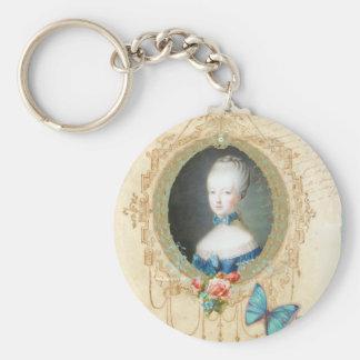 Llavero adornado joven de Marie Antonieta