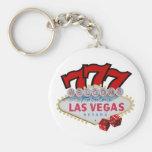 ¡Llavero afortunado de Las Vegas del jugador!