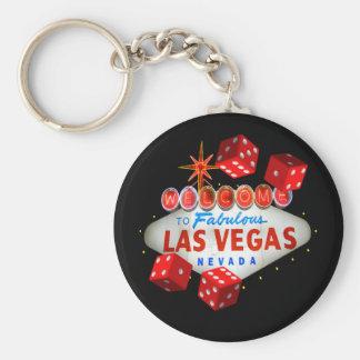 Llavero afortunado de los dados de Las Vegas