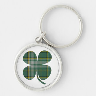 Llavero afortunado del trébol de la tela escocesa