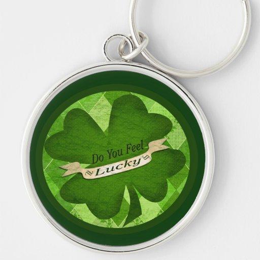 Llavero afortunado irlandés del trébol del día de