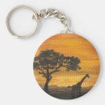 Llavero africano de la puesta del sol