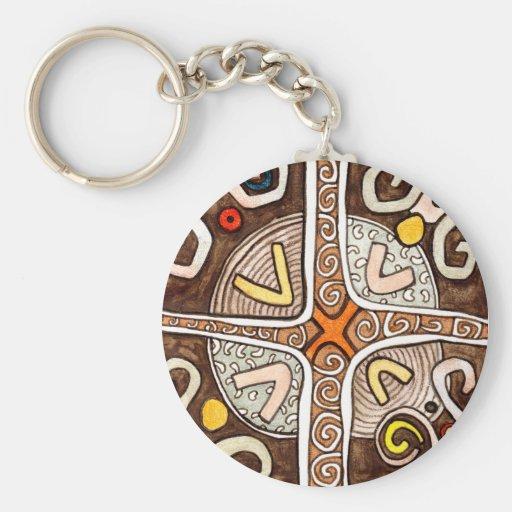 Llavero africano del arte