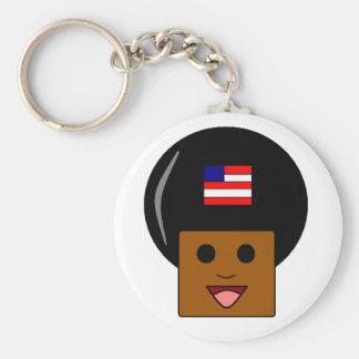 Llavero afroamericano del orgullo