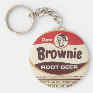 llavero agrandado etiqueta de la cerveza de raíz d