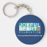 Llavero alegre de la fundación del corazón