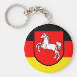 Llavero alemán de la bandera - Baja Sajonia Baja S