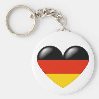 Llavero alemán del corazón - Deutsche Herz